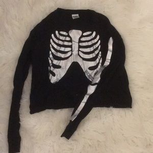 PINK iridescent skeleton top